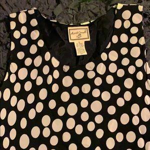 Retro inspired polka dots a-line dress